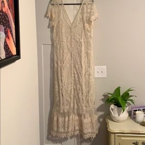 Torrid cream lace dress size 2 (in torrid sizing)